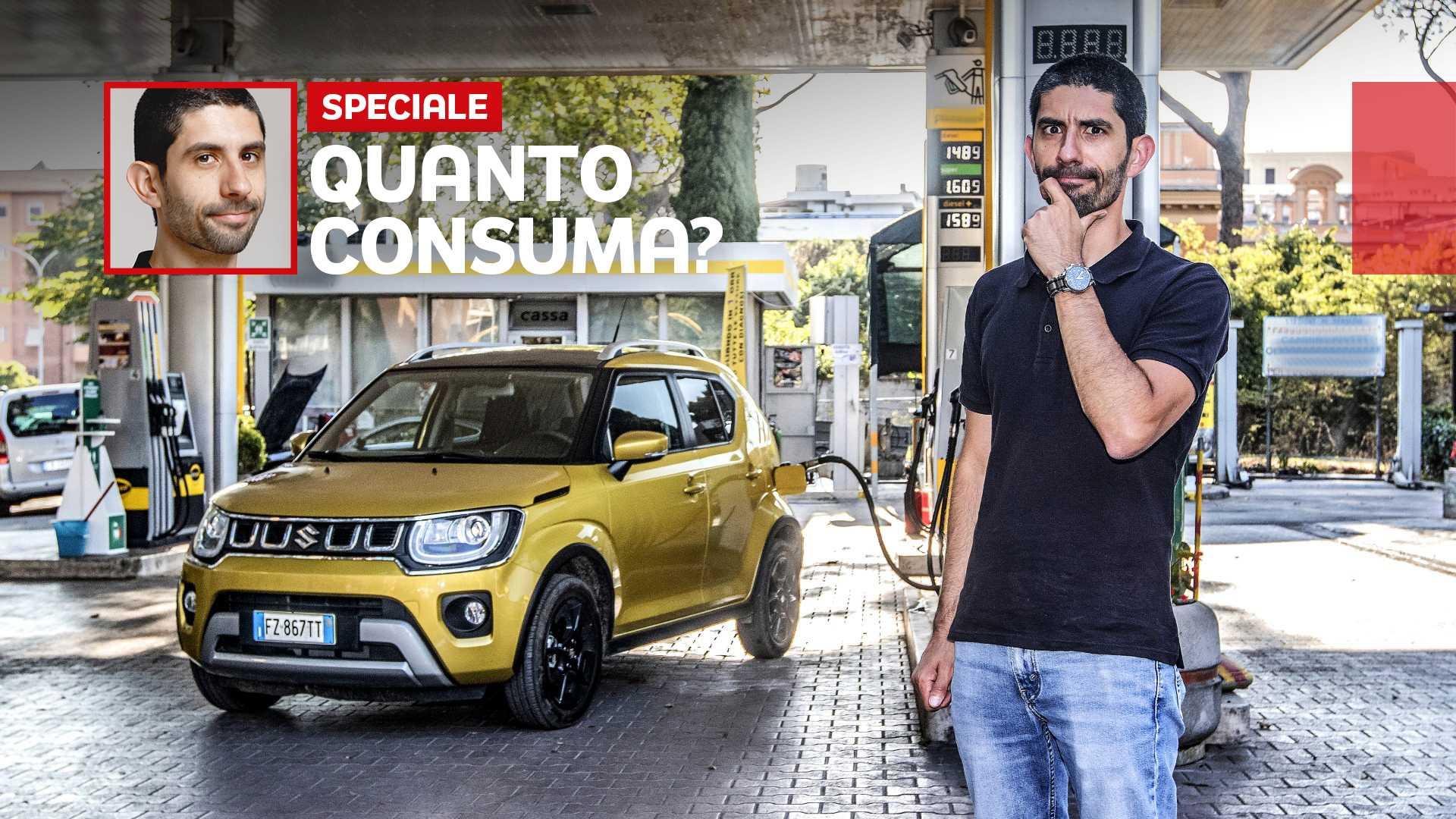 Suzuki Ignis 4x4, prova consumi del benzina aiutato dall'elettrico