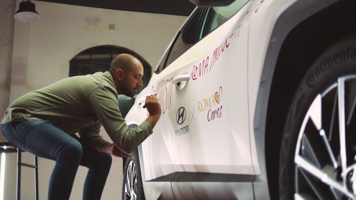 Sulla Hyundai Tucson il messaggio dei giallorossi alla AS Roma