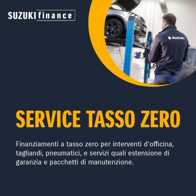Suzuki lancia Service Tasso Zero, il finanziamento agevolato per riparazioni, tagliandi e servizi post-vendita