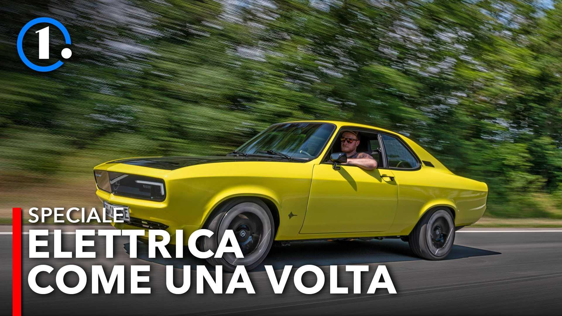 Opel Manta GSe ElektroMOD, la prova dell'elettrica con cambio manuale