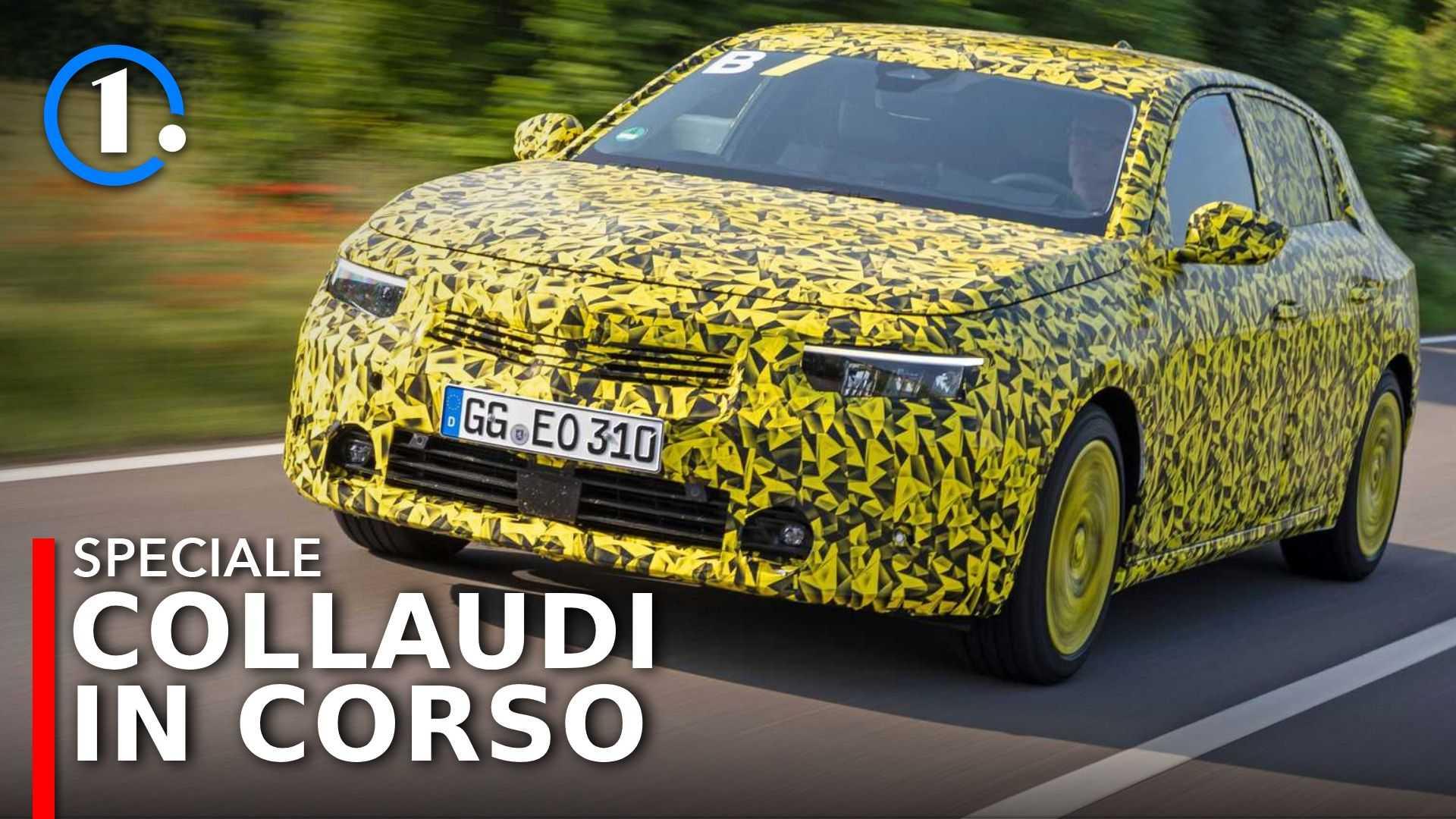 Nuova Opel Astra (2021), la prova del prototipo ancora camuffato