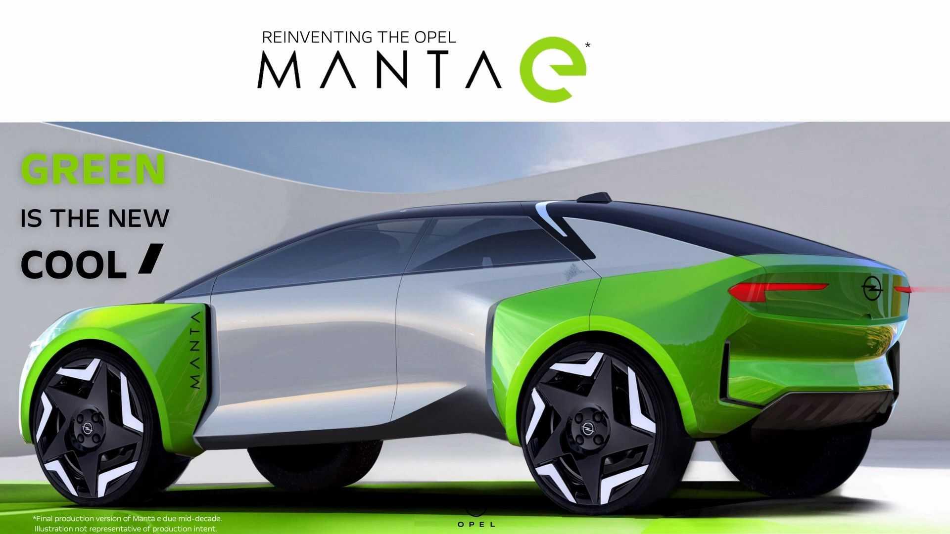 L'Opel Manta ritorna nel 2025 come SUV elettrico