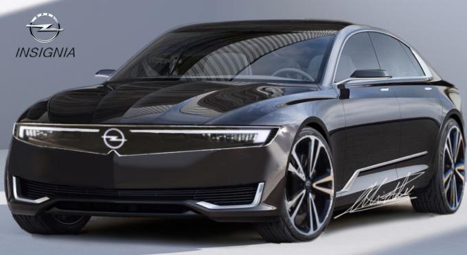 Nuova Opel Insignia, render della futura generazione delle versioni berlina e station wagon: rendering, 2023, uscita